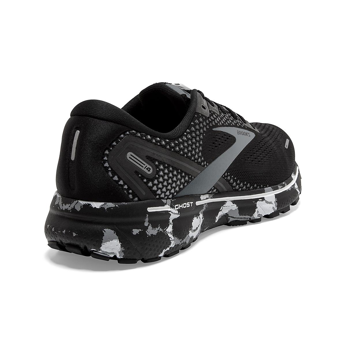 Men's Brooks Ghost 14 Running Shoe - Color: Black/Grey/White - Size: 7 - Width: Regular, Black/Grey/White, large, image 3