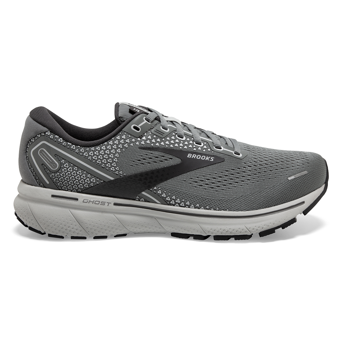 Men's Brooks Ghost 14 Running Shoe - Color: Grey/Alloy/Oyster - Size: 8 - Width: Extra Wide, Grey/Alloy/Oyster, large, image 1