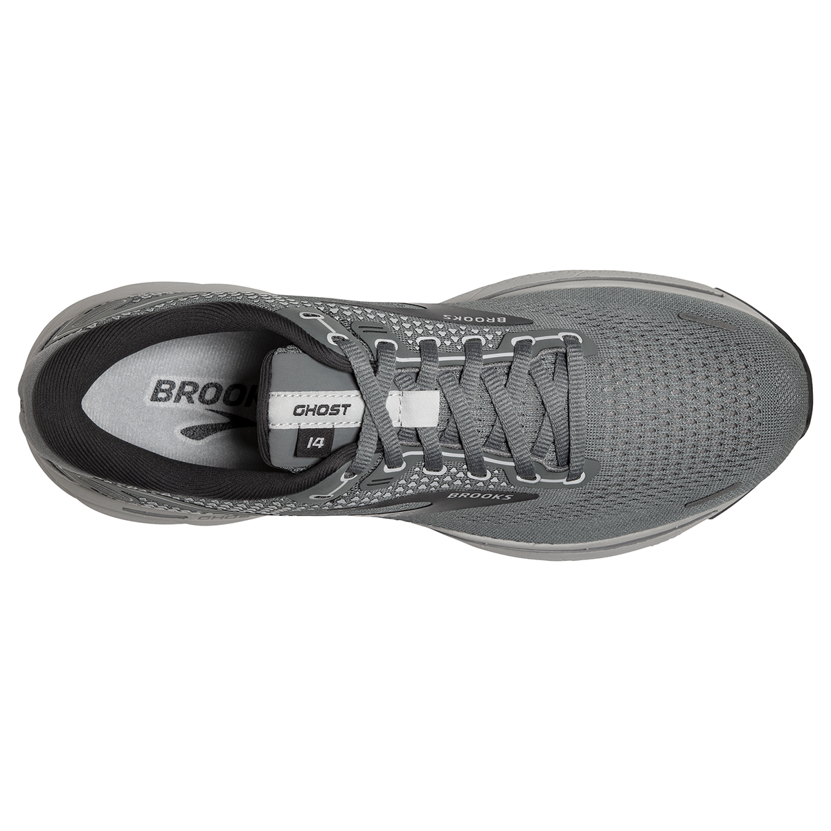 Men's Brooks Ghost 14 Running Shoe - Color: Grey/Alloy/Oyster - Size: 8 - Width: Extra Wide, Grey/Alloy/Oyster, large, image 3