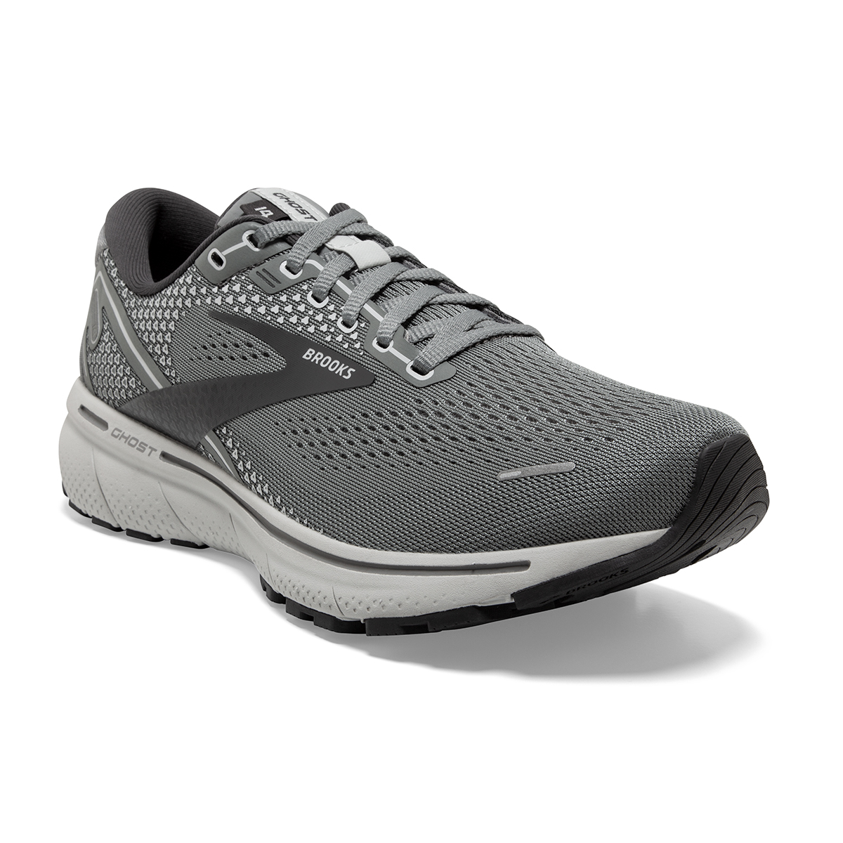 Men's Brooks Ghost 14 Running Shoe - Color: Grey/Alloy/Oyster - Size: 8 - Width: Extra Wide, Grey/Alloy/Oyster, large, image 5