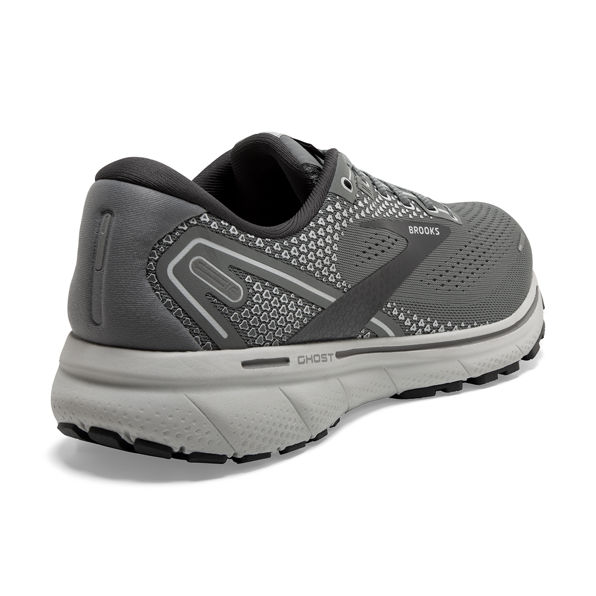 Men's Brooks Ghost 14 Running Shoe - Color: Grey/Alloy/Oyster - Size: 8 - Width: Extra Wide, Grey/Alloy/Oyster, large, image 6