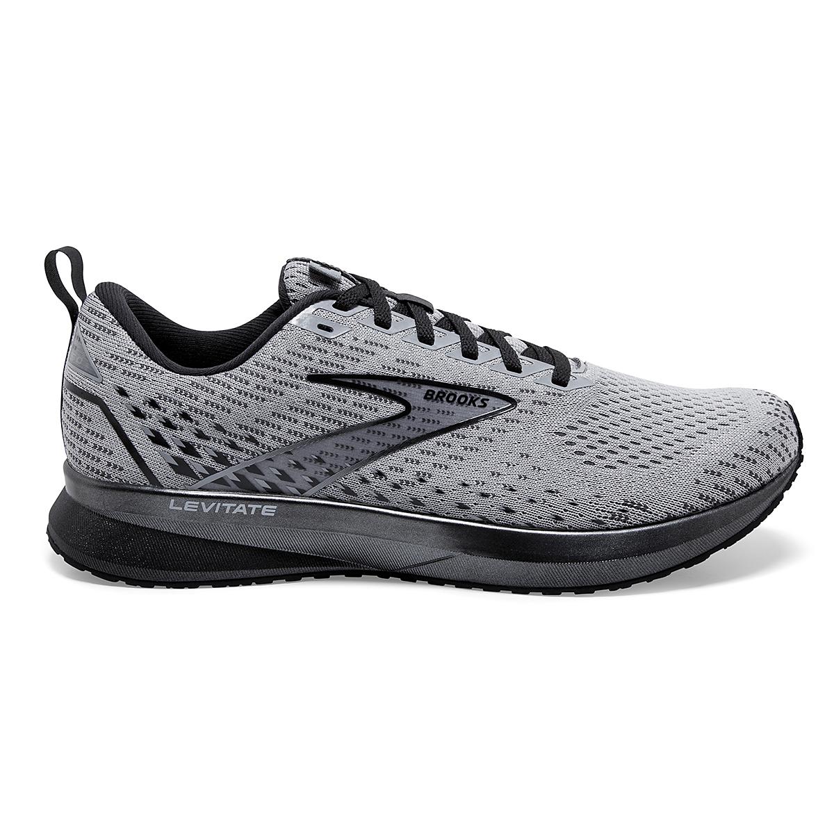 Men's Brooks Levitate 5 Running Shoe - Color: Grey/Blackened - Size: 7 - Width: Regular, Grey/Blackened, large, image 1