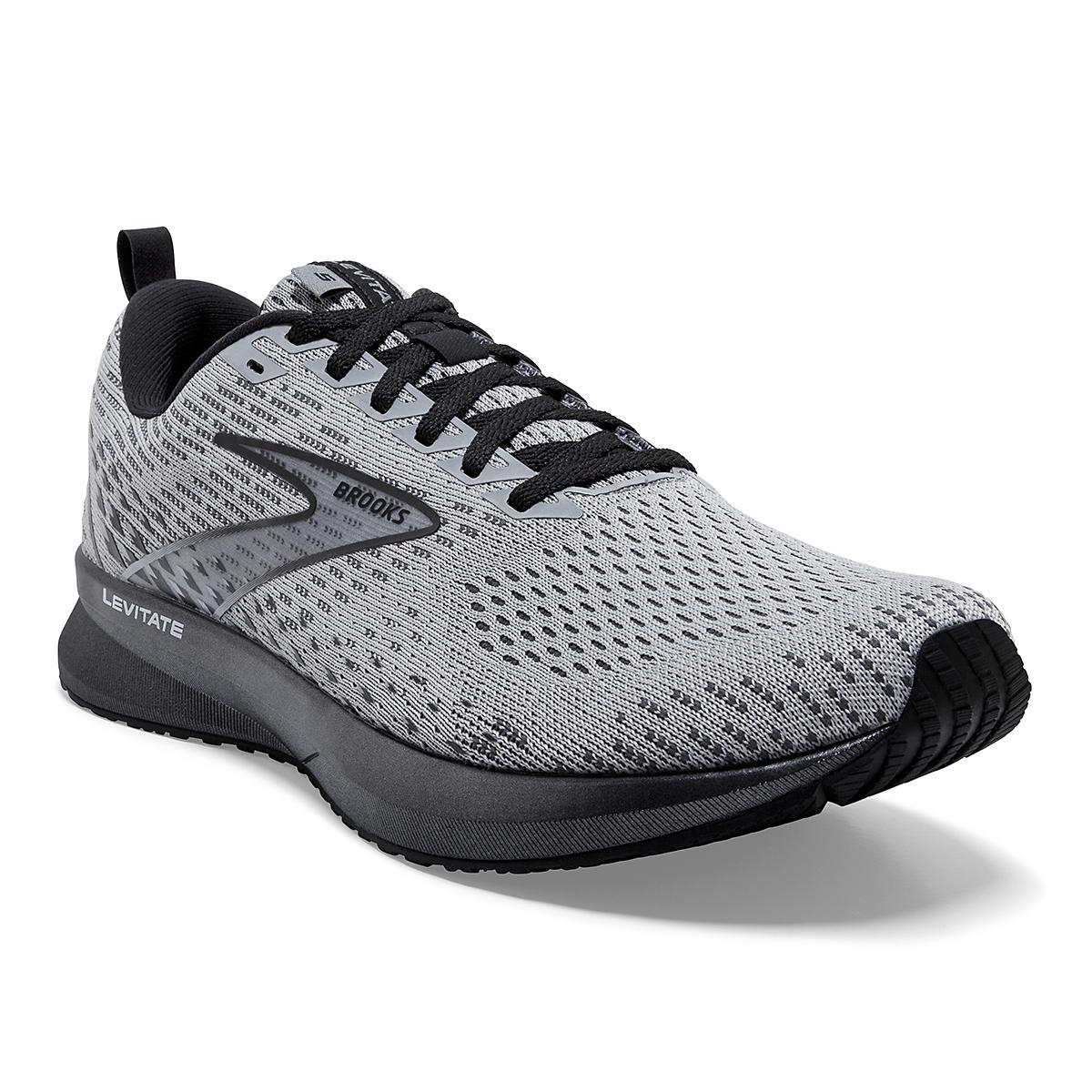 Men's Brooks Levitate 5 Running Shoe - Color: Grey/Blackened - Size: 7 - Width: Regular, Grey/Blackened, large, image 5