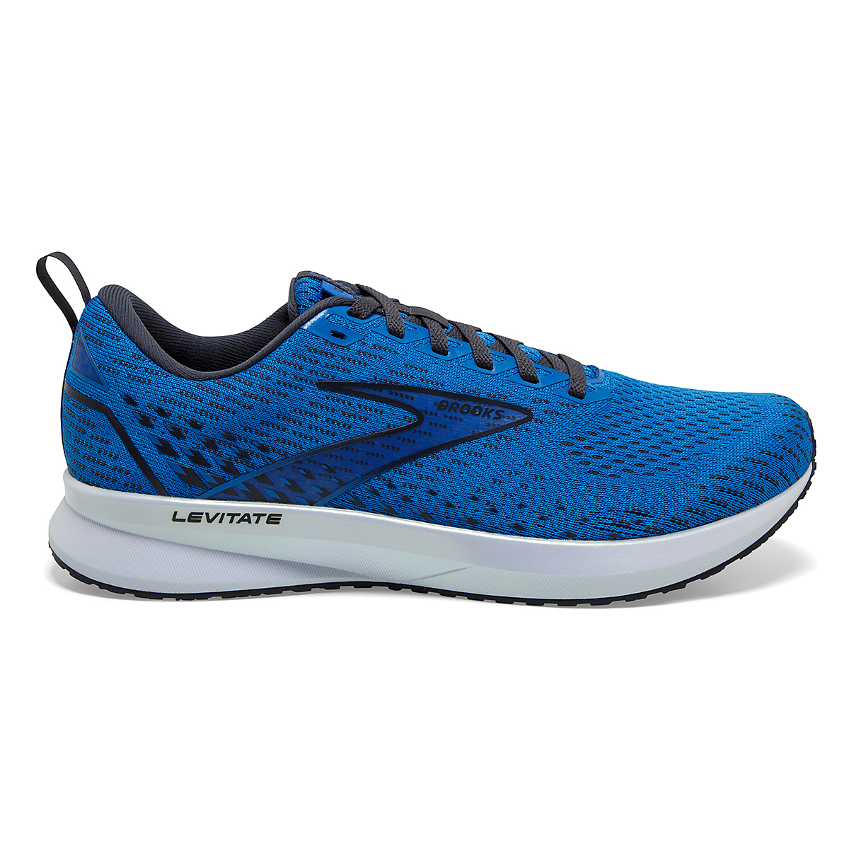Men's Brooks Levitate 5 Running Shoe - Color: Blue/India Ink/White - Size: 7 - Width: Regular, Blue/India Ink/White, large, image 1
