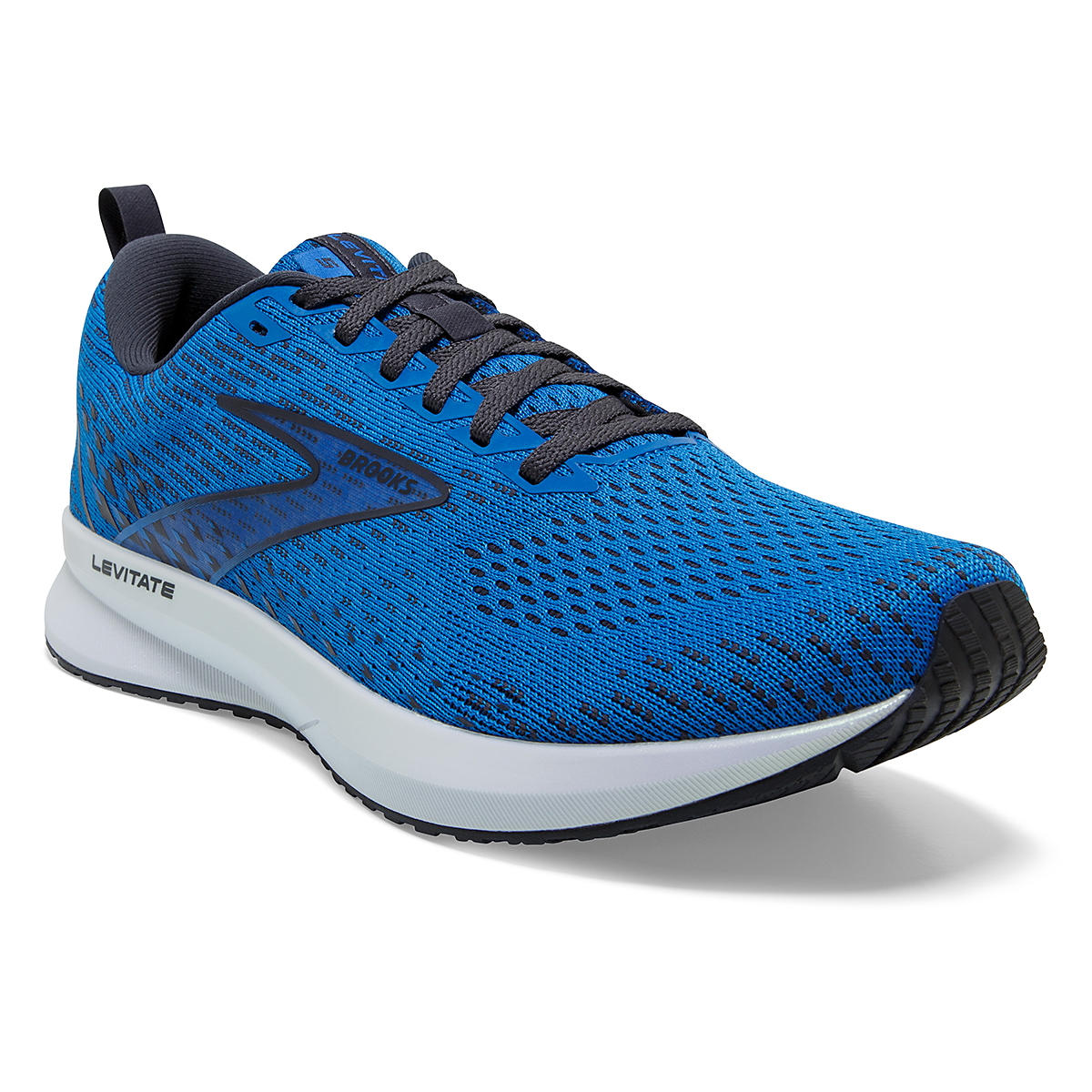Men's Brooks Levitate 5 Running Shoe - Color: Blue/India Ink/White - Size: 7 - Width: Regular, Blue/India Ink/White, large, image 2