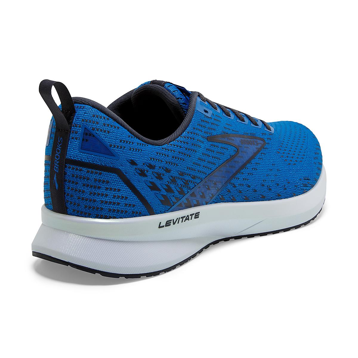 Men's Brooks Levitate 5 Running Shoe - Color: Blue/India Ink/White - Size: 7 - Width: Regular, Blue/India Ink/White, large, image 3