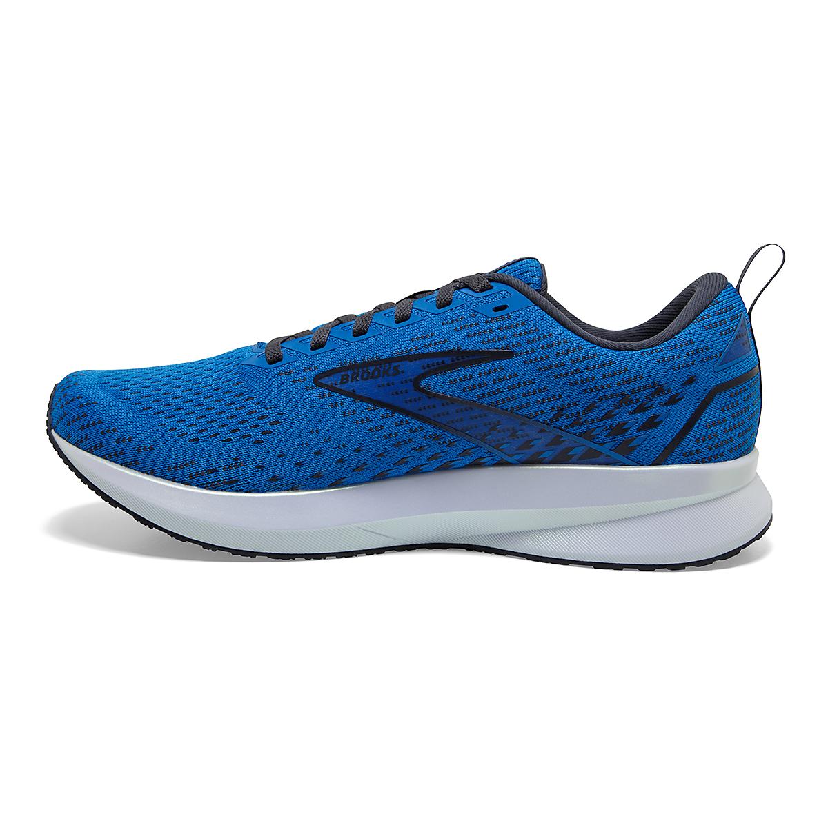 Men's Brooks Levitate 5 Running Shoe - Color: Blue/India Ink/White - Size: 7 - Width: Regular, Blue/India Ink/White, large, image 4