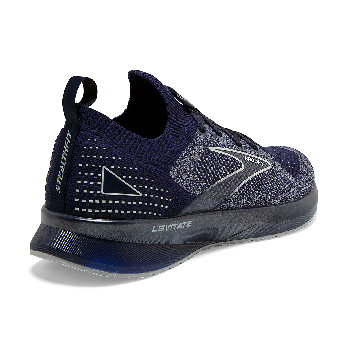 Men's Brooks Levitate Stealthfit 5 Running Shoe - Color: Peacoat/Grey - Size: 7 - Width: Regular, Peacoat/Grey, large, image 3