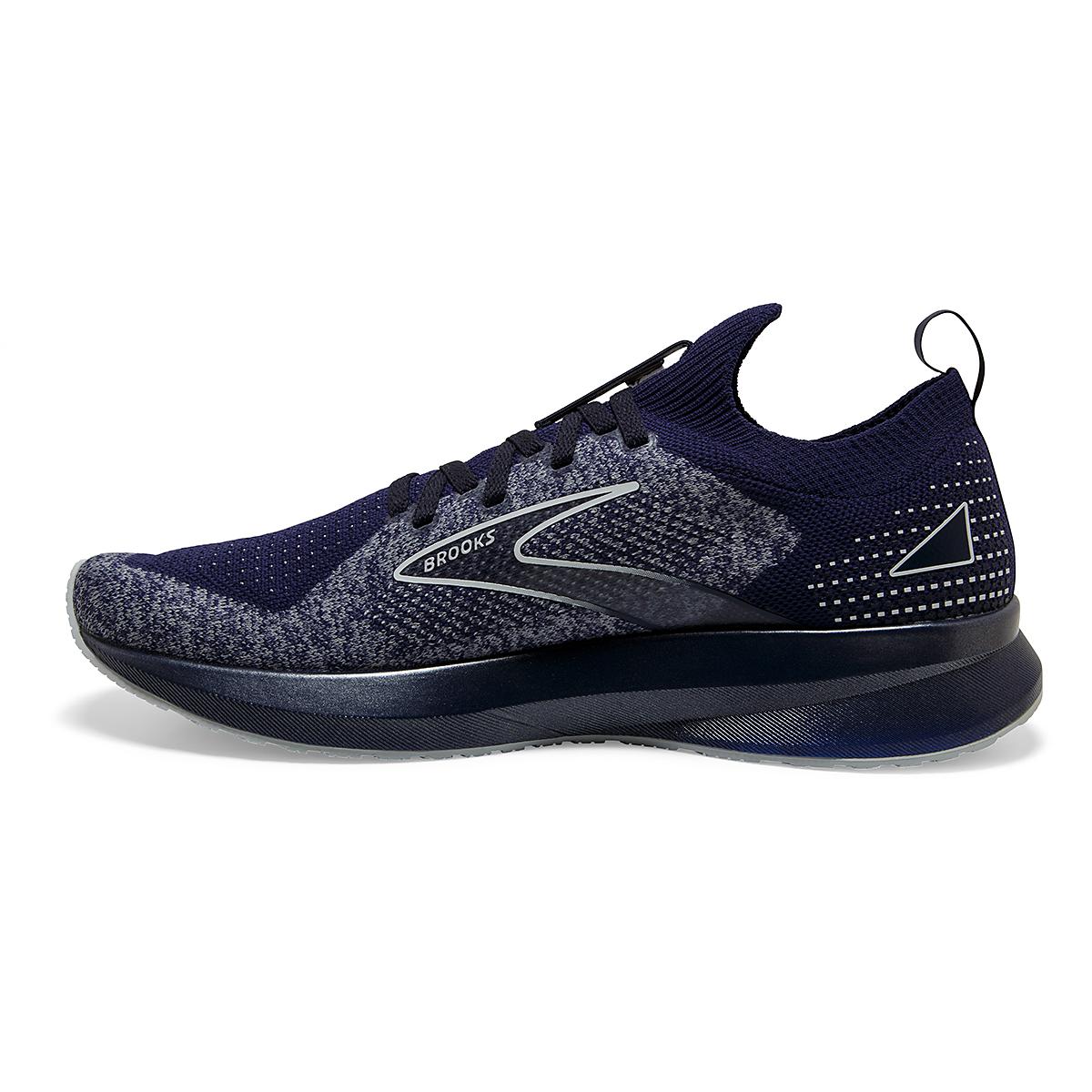 Men's Brooks Levitate Stealthfit 5 Running Shoe - Color: Peacoat/Grey - Size: 7 - Width: Regular, Peacoat/Grey, large, image 4