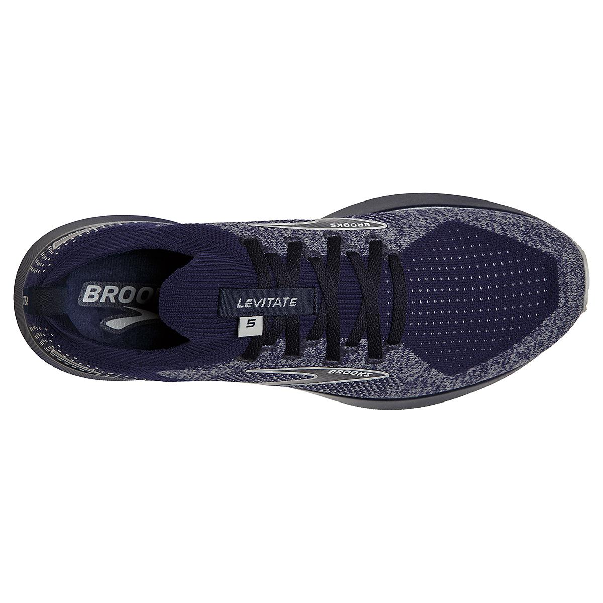 Men's Brooks Levitate Stealthfit 5 Running Shoe - Color: Peacoat/Grey - Size: 7 - Width: Regular, Peacoat/Grey, large, image 5
