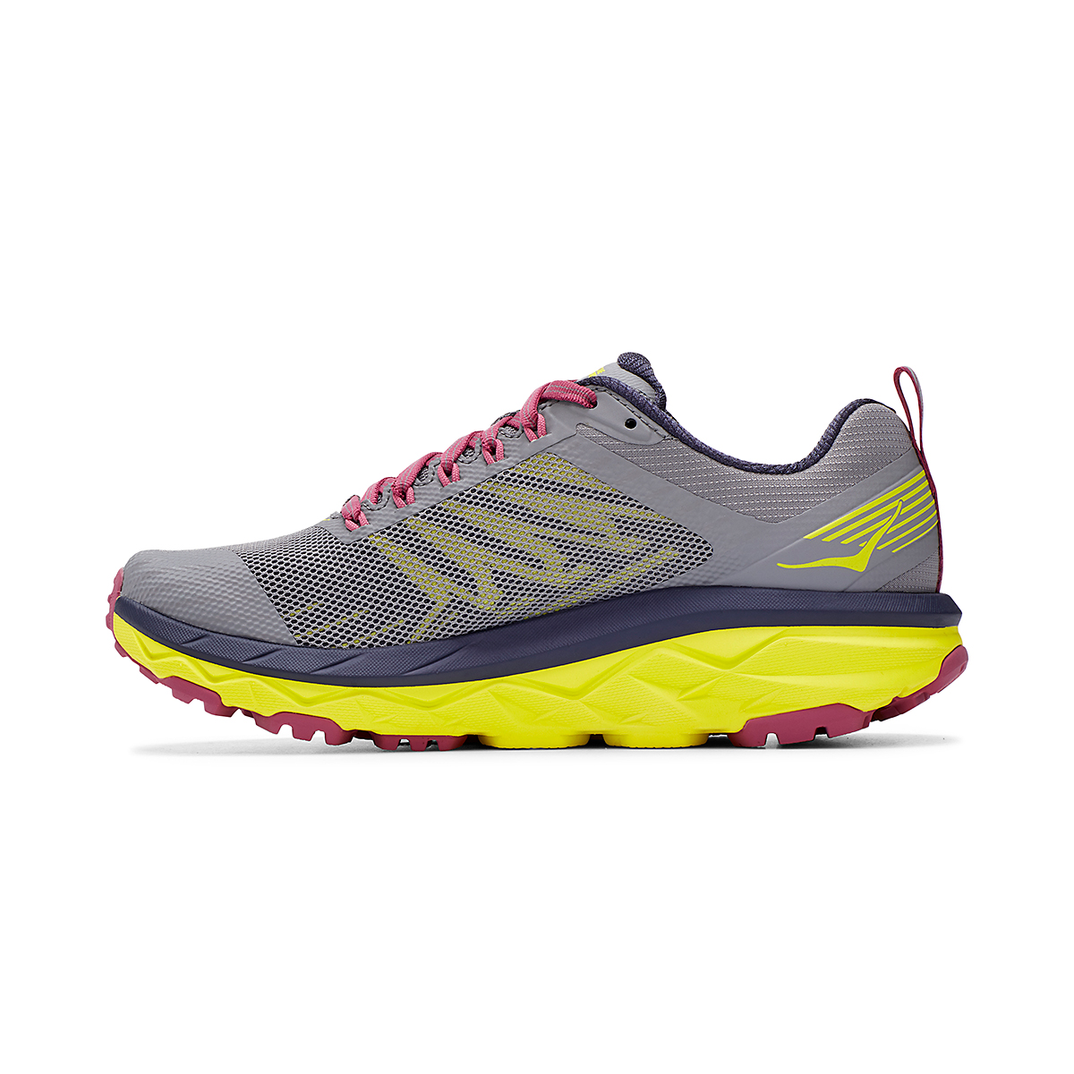 Women's Hoka One One Challenger ATR 5 Trail Running Shoe - Color: Frost Gray/Evening Primrose - Size: 5 - Width: Regular, Frost Gray/Evening Primrose, large, image 2