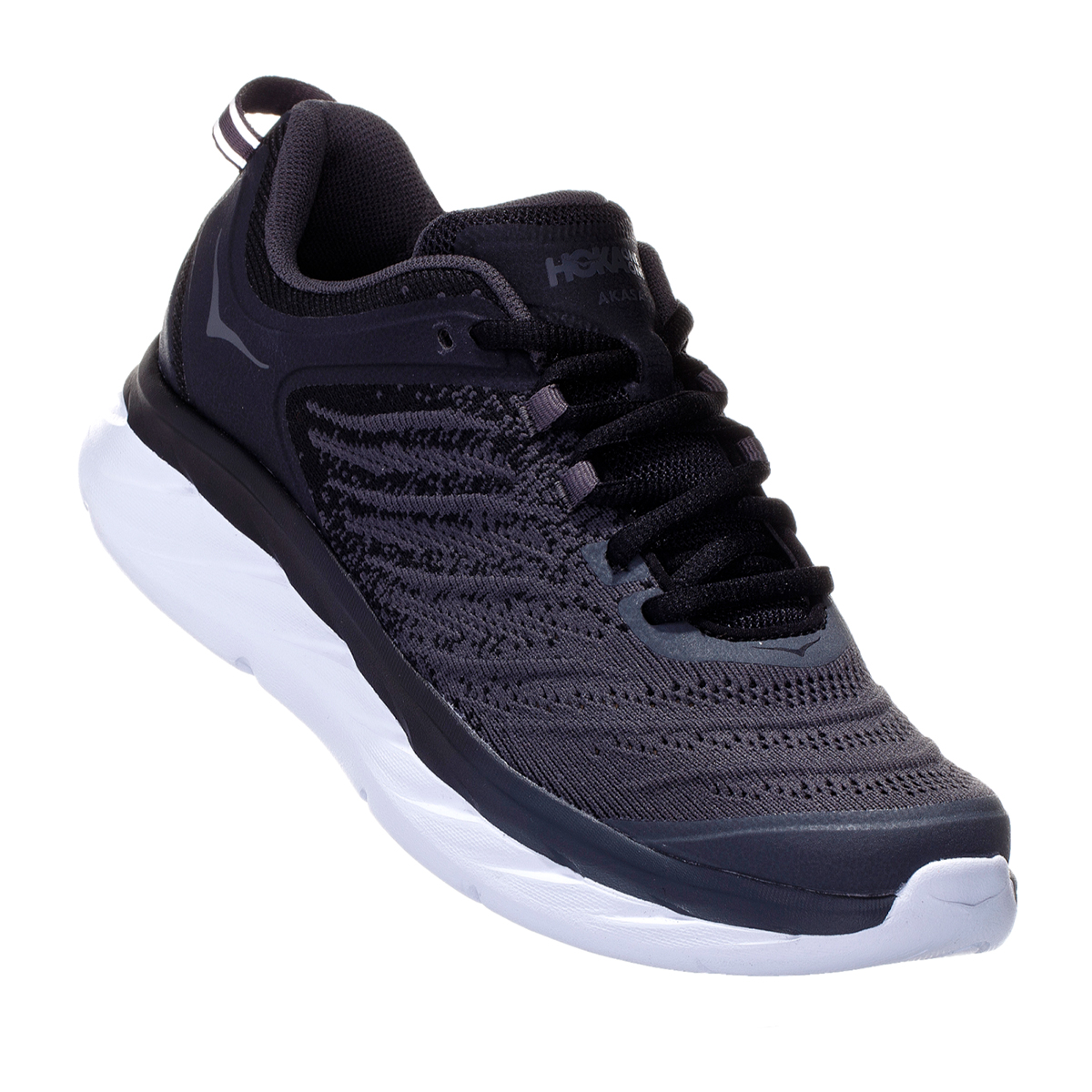 Men's Hoka One One Akasa Running Shoe - Color: Black/Dark Shadow - Size: 7 - Width: Regular, Black/Dark Shadow, large, image 5