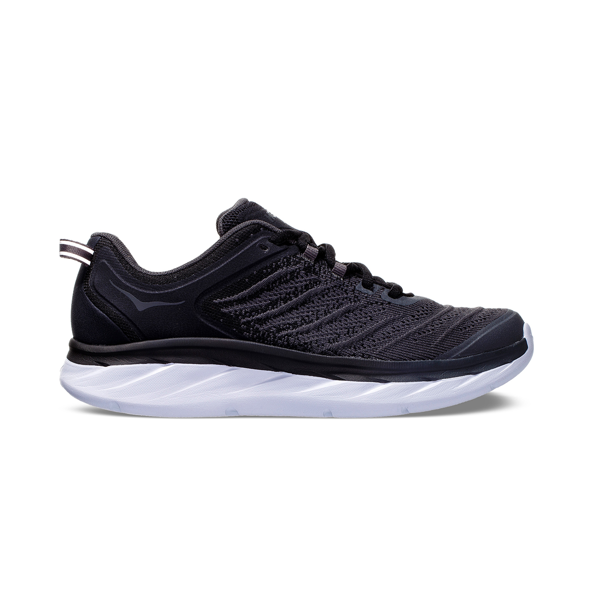 Women's Hoka One One Akasa Running Shoe - Color: Black/Dark Shadow - Size: 5 - Width: Regular, Black/Dark Shadow, large, image 1