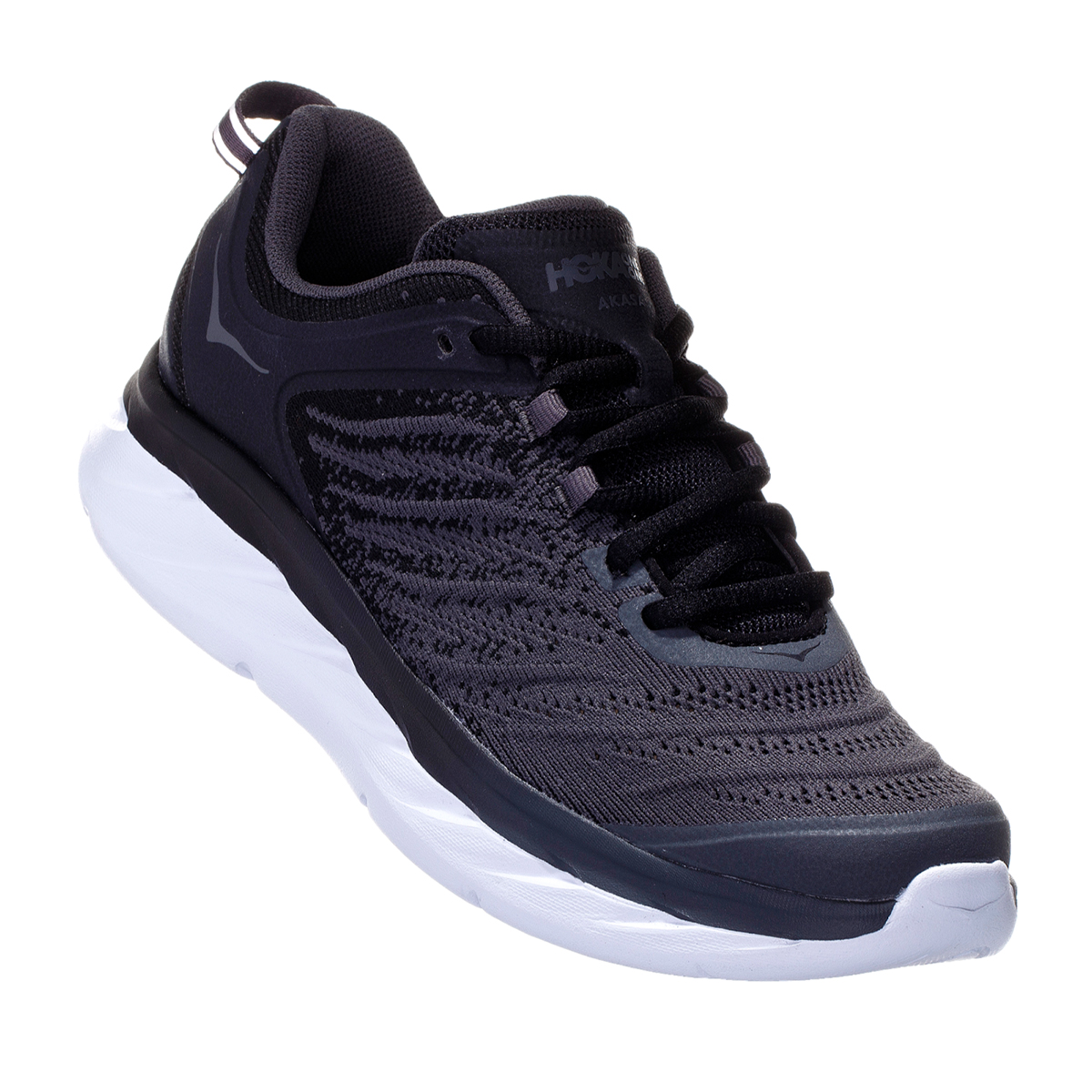 Women's Hoka One One Akasa Running Shoe - Color: Black/Dark Shadow - Size: 5 - Width: Regular, Black/Dark Shadow, large, image 5