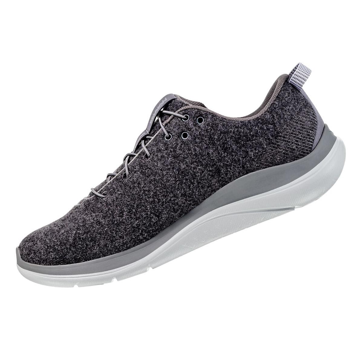 Women's Hoka One One Hupana Flow Wool Running Shoe - Color: Dark Shadow/Wild Dove - Size: 5 - Width: Regular, Dark Shadow/Wild Dove, large, image 2