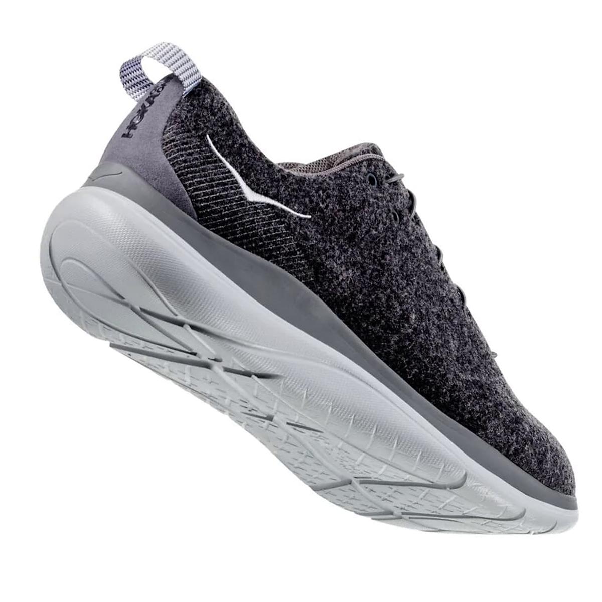 Women's Hoka One One Hupana Flow Wool Running Shoe - Color: Dark Shadow/Wild Dove - Size: 5 - Width: Regular, Dark Shadow/Wild Dove, large, image 5