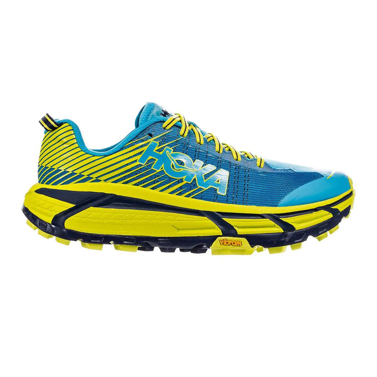 Men's Hoka One One Evo Mafate 2 Running Shoe - Color: Cyan/Citrus - Size: 7 - Width: Regular, Cyan/Citrus, large, image 1