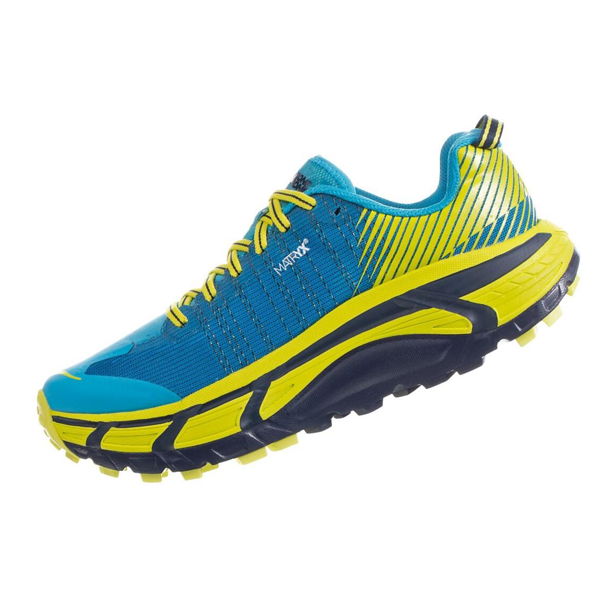 Men's Hoka One One Evo Mafate 2 Running Shoe - Color: Cyan/Citrus - Size: 7 - Width: Regular, Cyan/Citrus, large, image 2