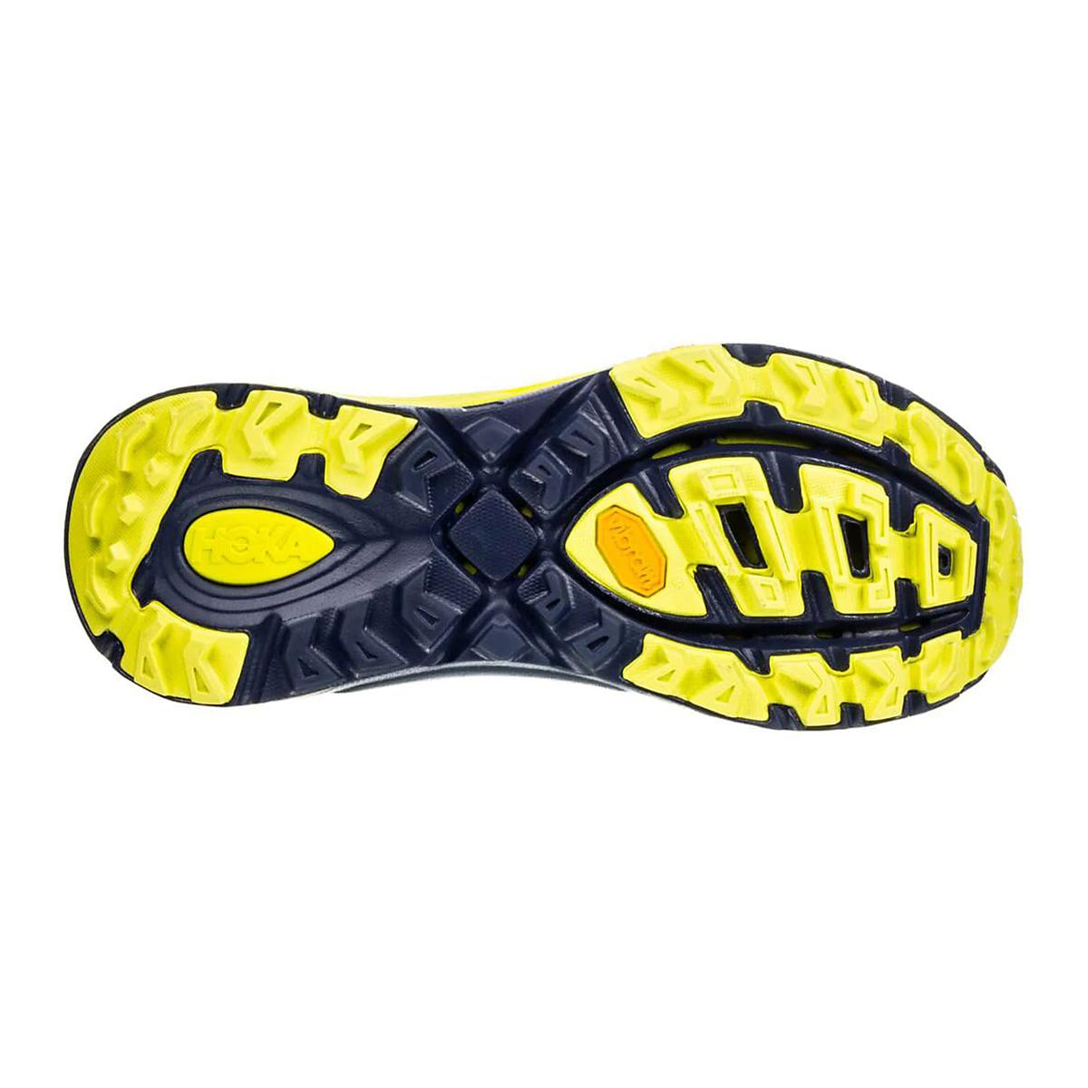 Men's Hoka One One Evo Mafate 2 Running Shoe - Color: Cyan/Citrus - Size: 7 - Width: Regular, Cyan/Citrus, large, image 4
