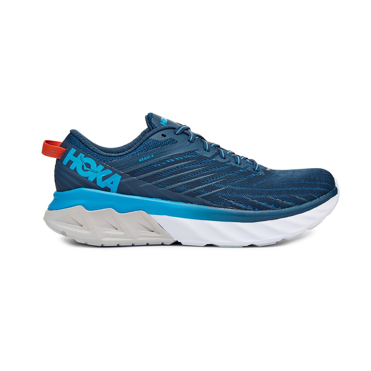 Men's Hoka One One Arahi 4 Running Shoe - Color: Majolica Blue/Dresden Blue (Regular Width) - Size: 7, Majolica Blue/Dresden Blue, large, image 1
