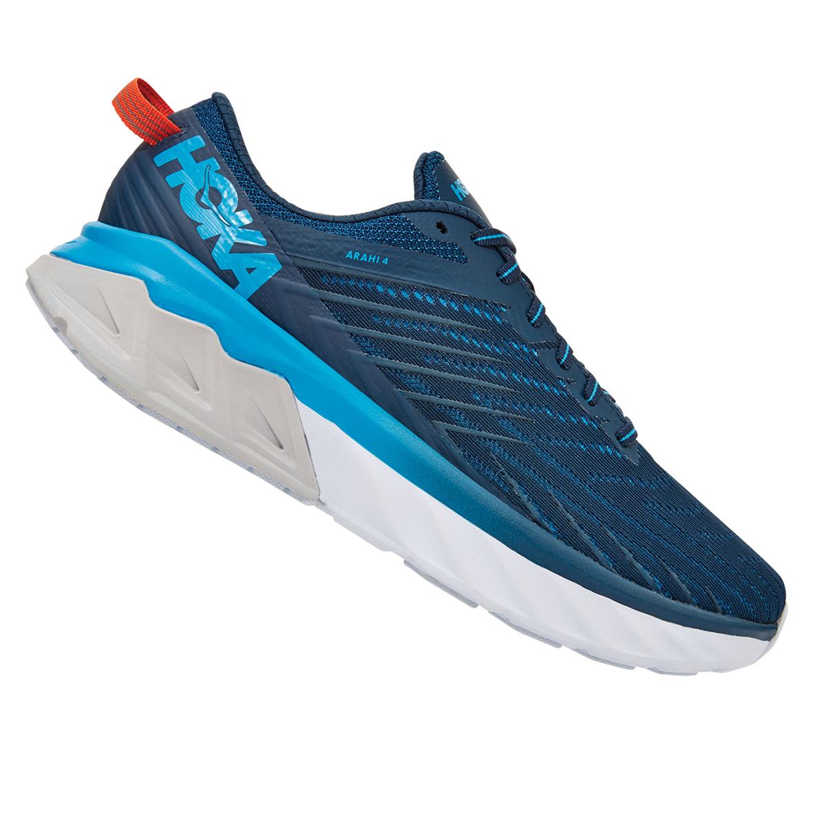 Men's Hoka One One Arahi 4 Running Shoe - Color: Majolica Blue/Dresden Blue (Regular Width) - Size: 7, Majolica Blue/Dresden Blue, large, image 3