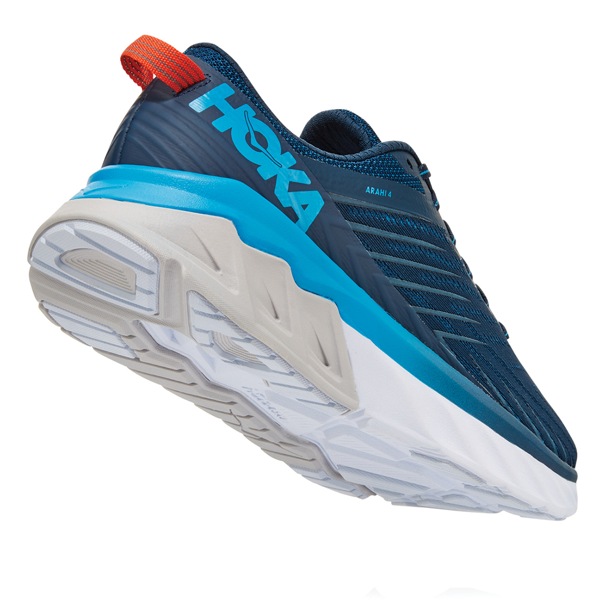 Men's Hoka One One Arahi 4 Running Shoe - Color: Majolica Blue/Dresden Blue (Regular Width) - Size: 7, Majolica Blue/Dresden Blue, large, image 4