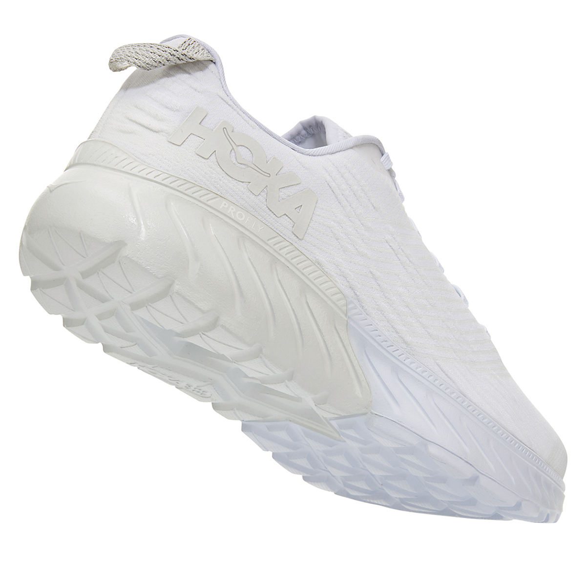 Women's Hoka One One Mach 3 Running Shoe - Color: White (Regular Width) - Size: 5, White, large, image 3