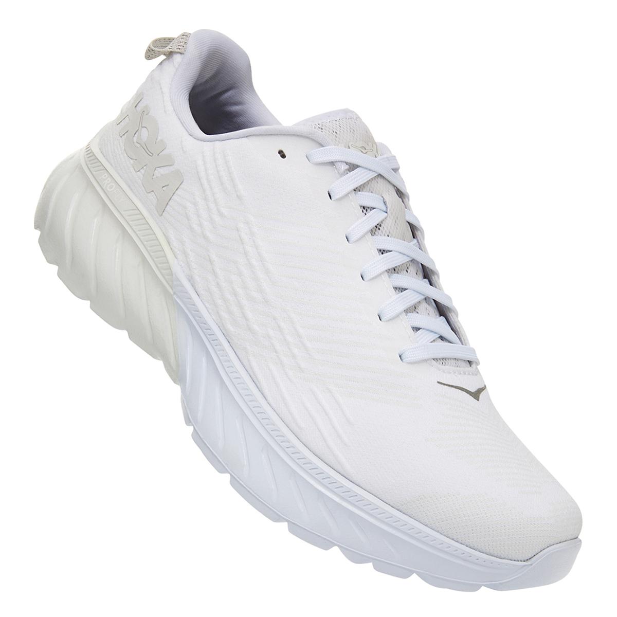 Women's Hoka One One Mach 3 Running Shoe - Color: White (Regular Width) - Size: 5, White, large, image 7