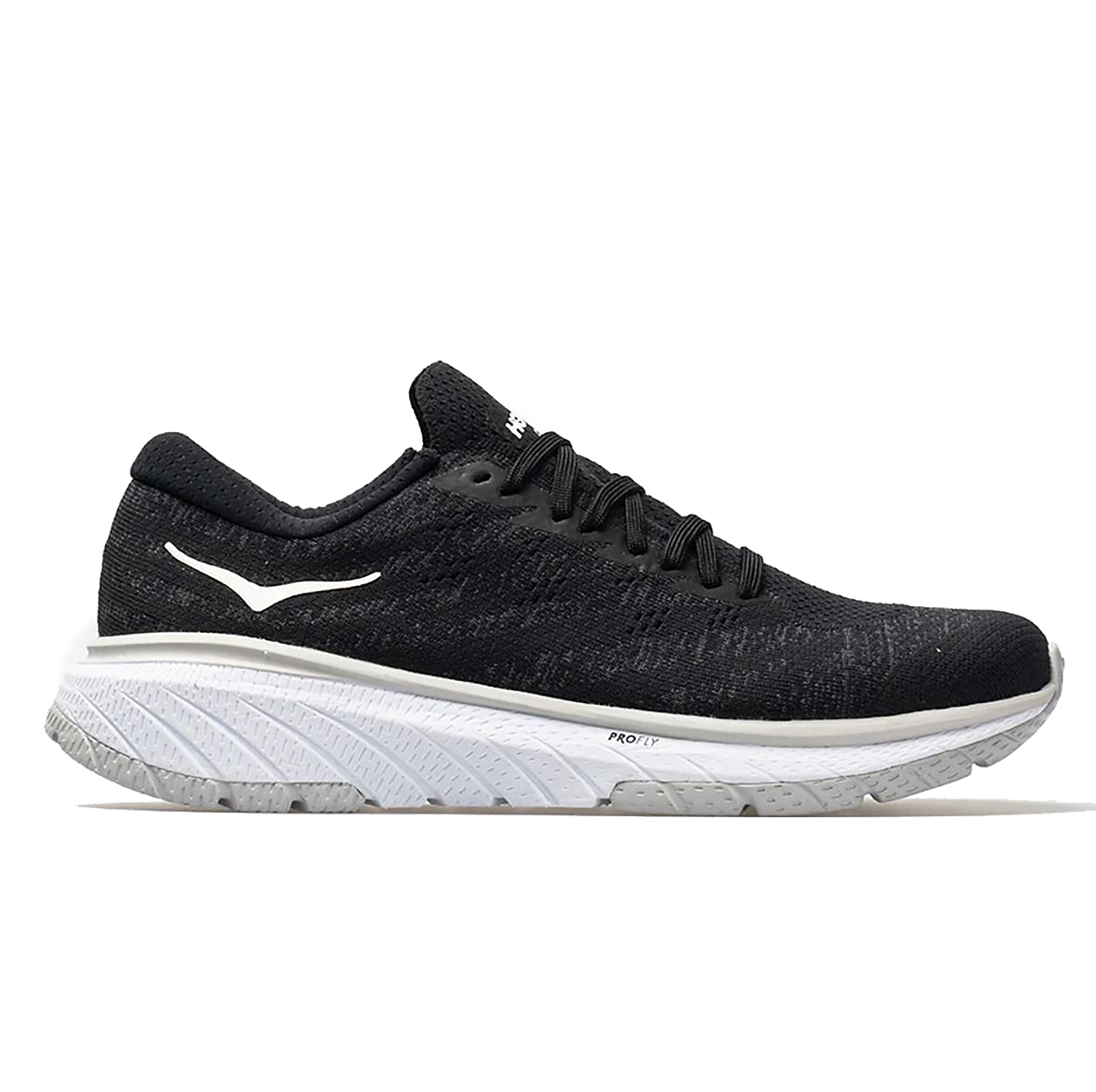 Men's Hoka One One Cavu 3 Running Shoe - Color: Black/White - Size: 7 - Width: Regular, Black/White, large, image 1