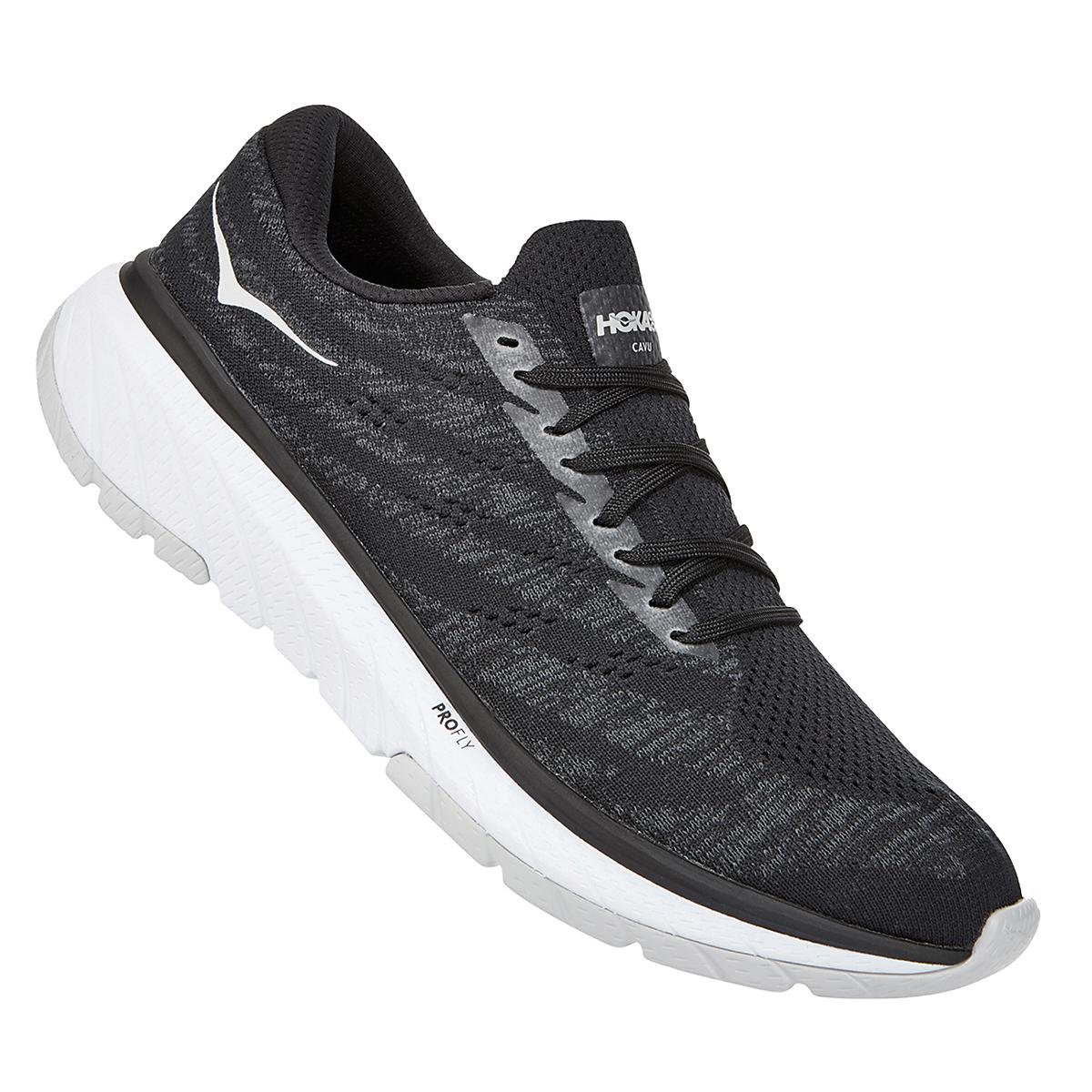 Men's Hoka One One Cavu 3 Running Shoe - Color: Black/White - Size: 7 - Width: Regular, Black/White, large, image 3