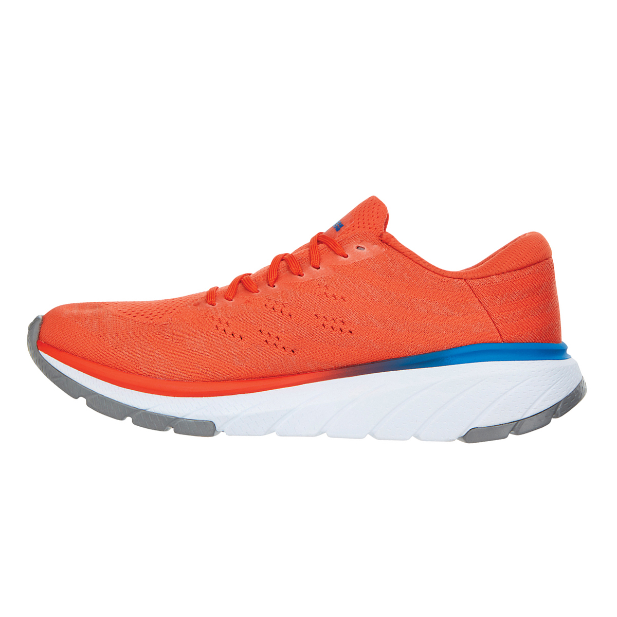 Men's Hoka One One Cavu 3 Running Shoe - Color: Mandarin Red/White - Size: 7 - Width: Regular, Mandarin Red/White, large, image 2