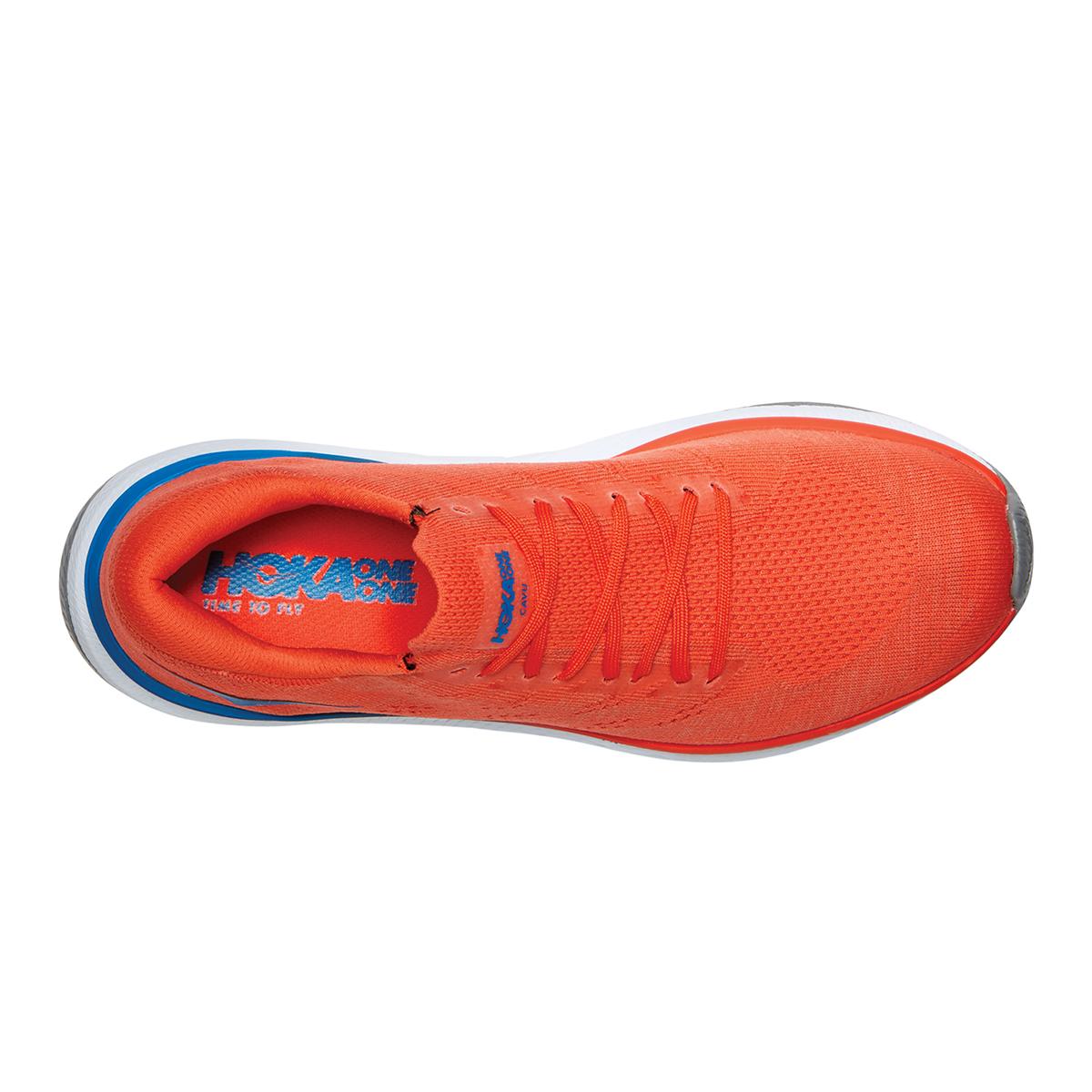 Men's Hoka One One Cavu 3 Running Shoe - Color: Mandarin Red/White - Size: 7 - Width: Regular, Mandarin Red/White, large, image 3