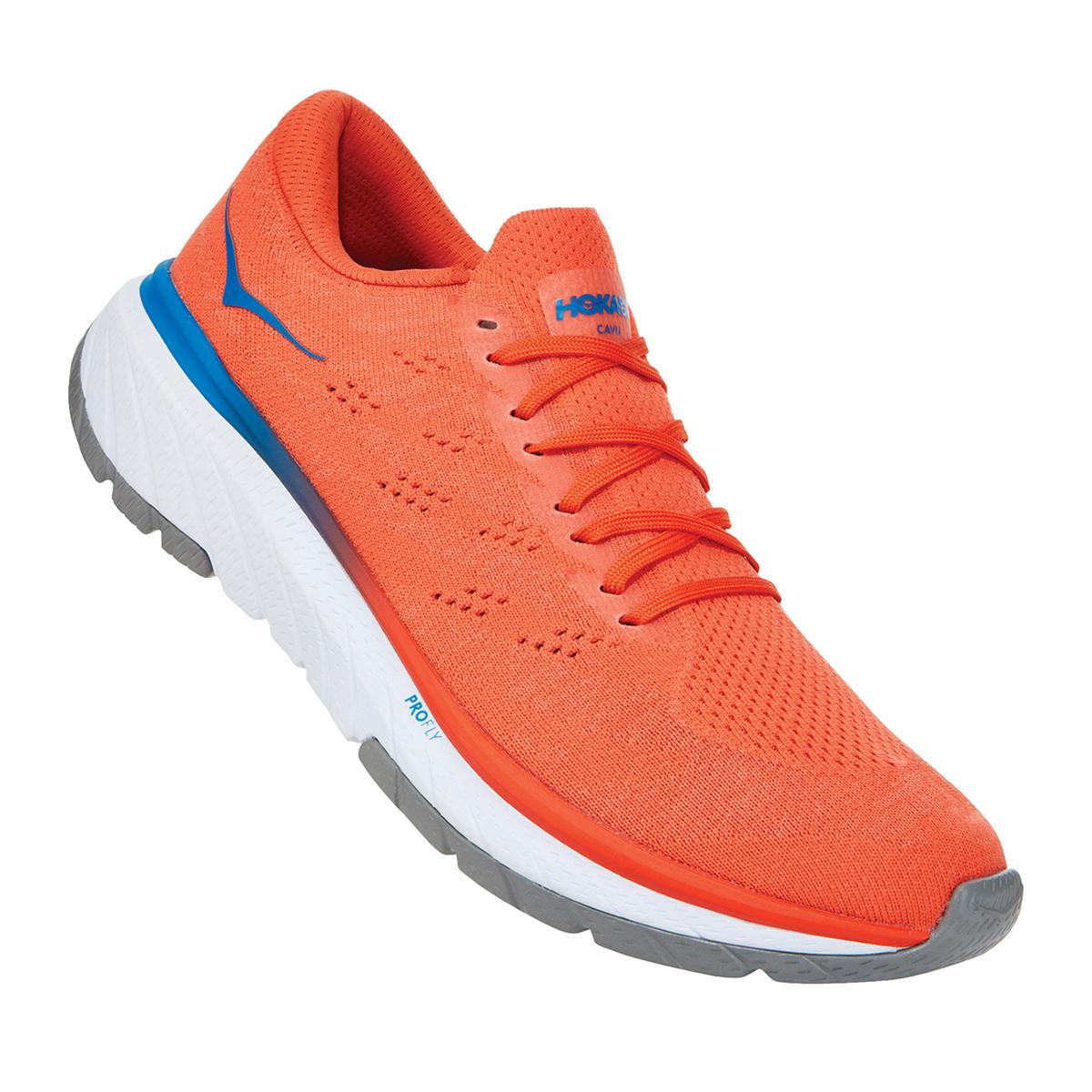 Men's Hoka One One Cavu 3 Running Shoe - Color: Mandarin Red/White - Size: 7 - Width: Regular, Mandarin Red/White, large, image 5