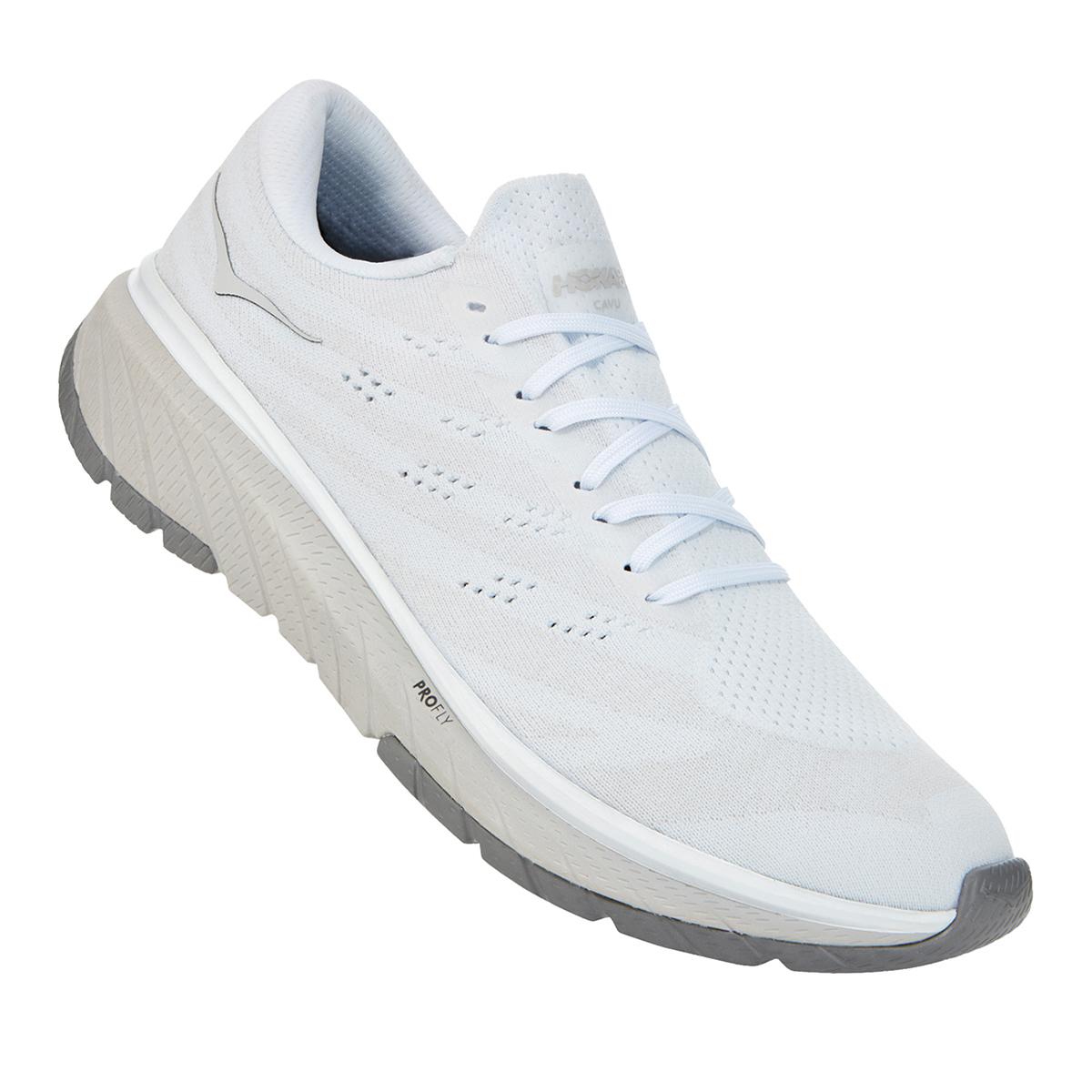 Men's Hoka One One Cavu 3 Running Shoe - Color: White/Nimbus Cloud - Size: 7 - Width: Regular, White/Nimbus Cloud, large, image 5