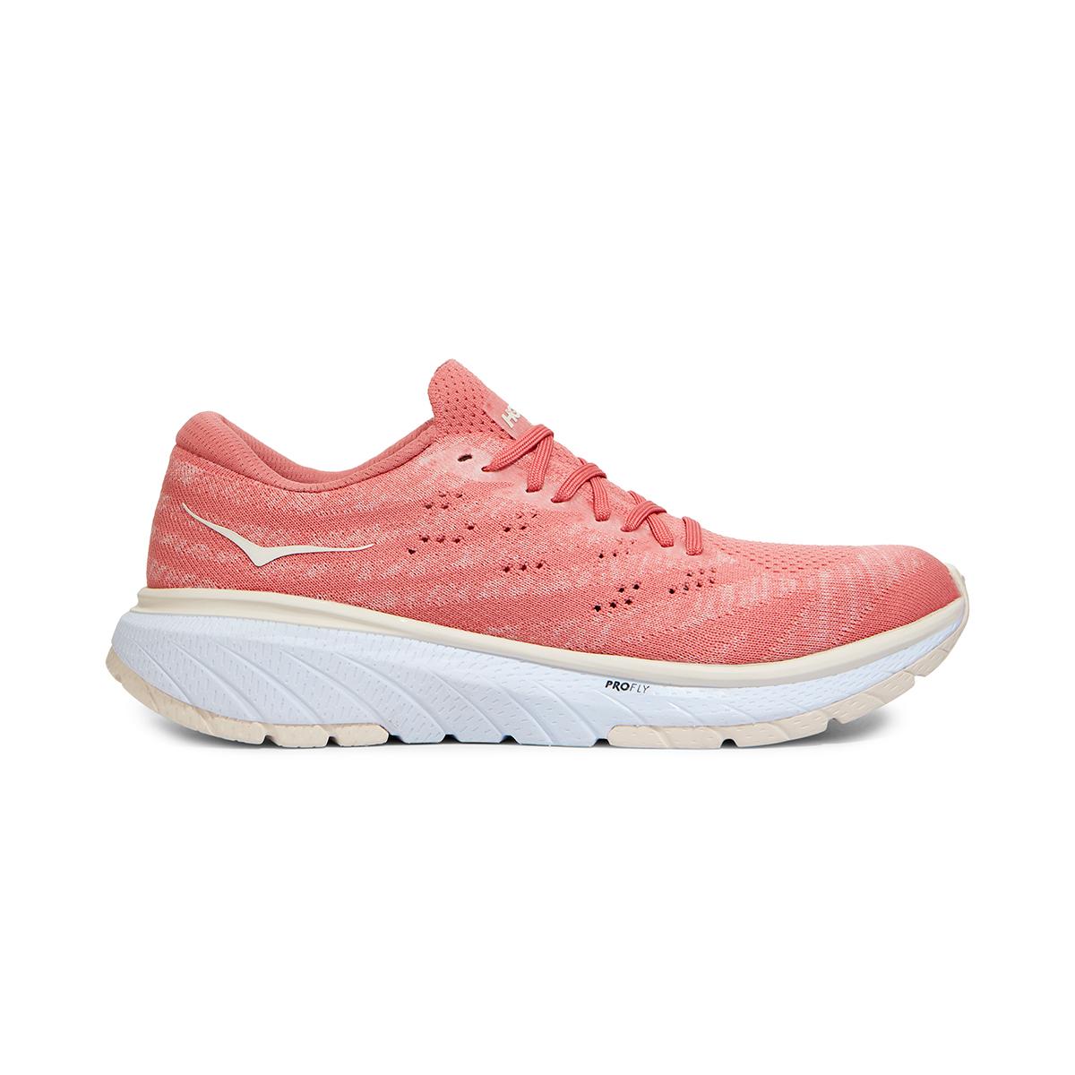 Women's Hoka One One Cavu 3 Running Shoe - Color: Lantana/Eggnog - Size: 5 - Width: Regular, Lantana/Eggnog, large, image 1