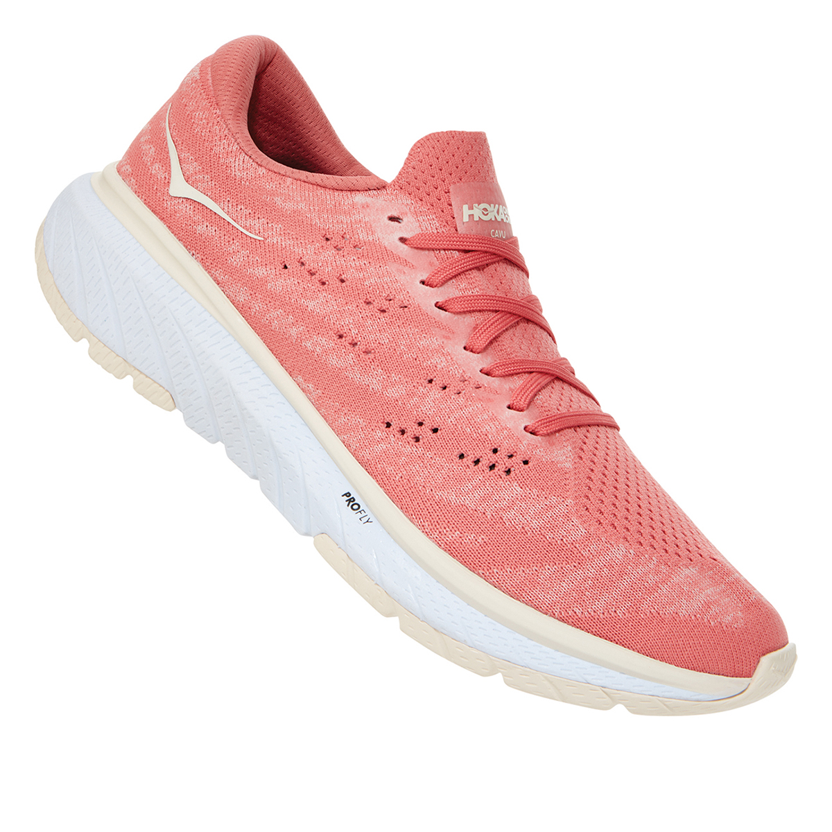Women's Hoka One One Cavu 3 Running Shoe - Color: Lantana/Eggnog - Size: 5 - Width: Regular, Lantana/Eggnog, large, image 5