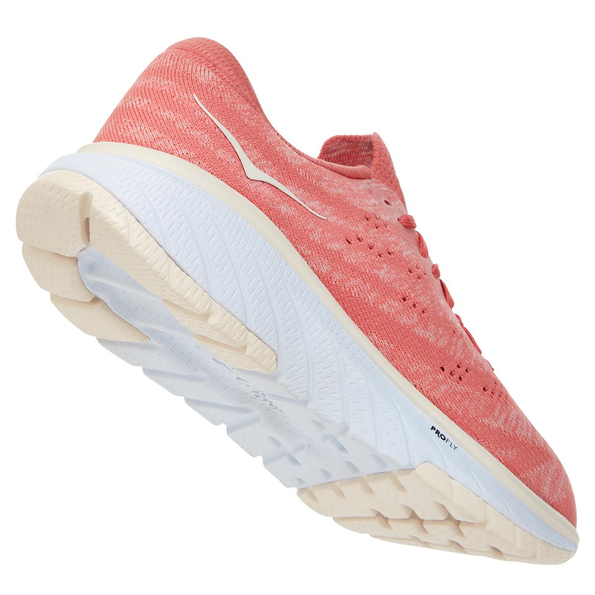 Women's Hoka One One Cavu 3 Running Shoe - Color: Lantana/Eggnog - Size: 5 - Width: Regular, Lantana/Eggnog, large, image 6