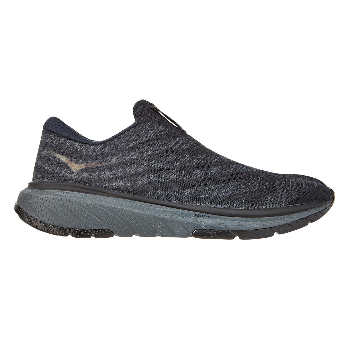 Women's Hoka One One Cavu 3 Slip Running Shoe - Color: Black/Dark Shadow - Size: 5 - Width: Regular, Black/Dark Shadow, large, image 1