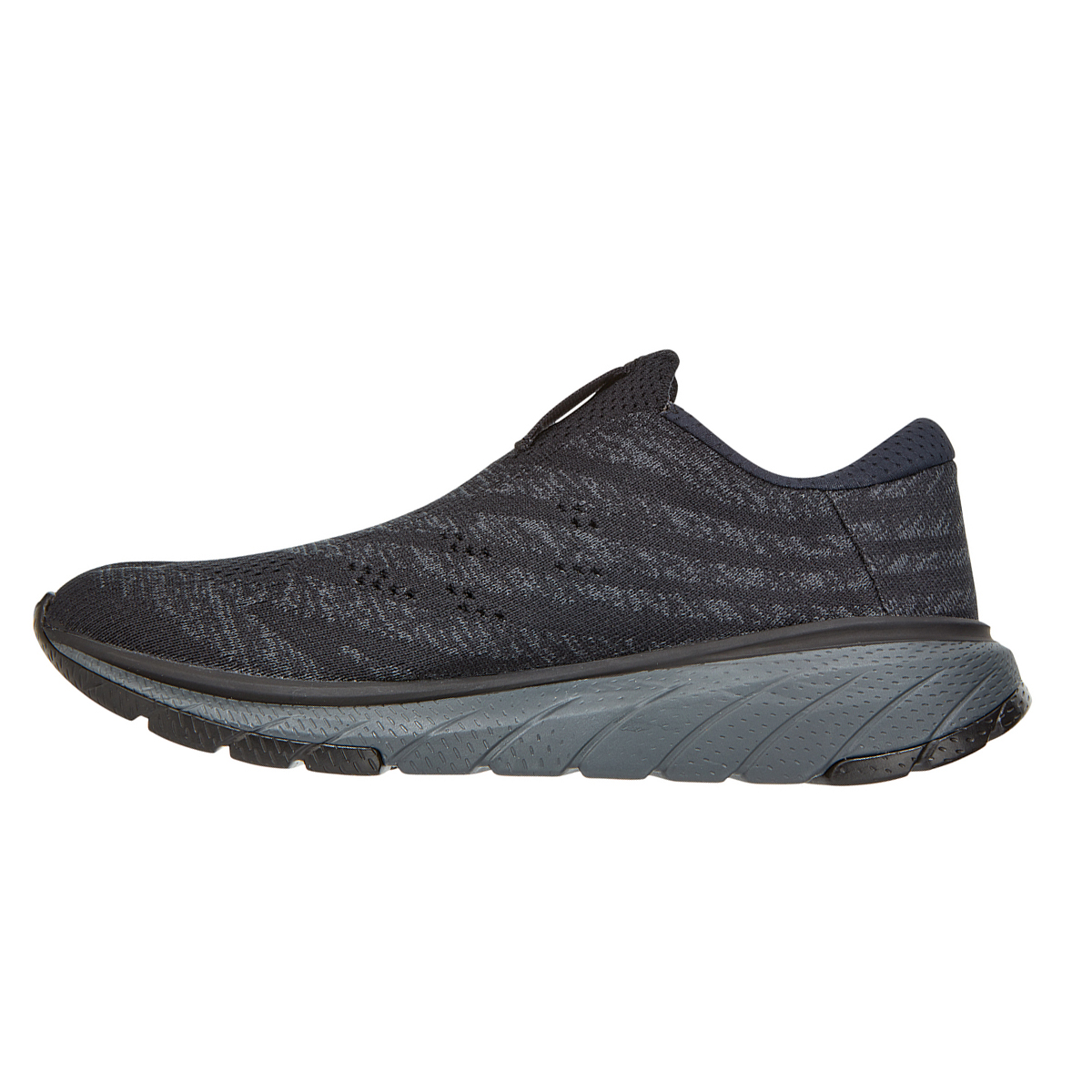 Women's Hoka One One Cavu 3 Slip Running Shoe - Color: Black/Dark Shadow - Size: 5 - Width: Regular, Black/Dark Shadow, large, image 2