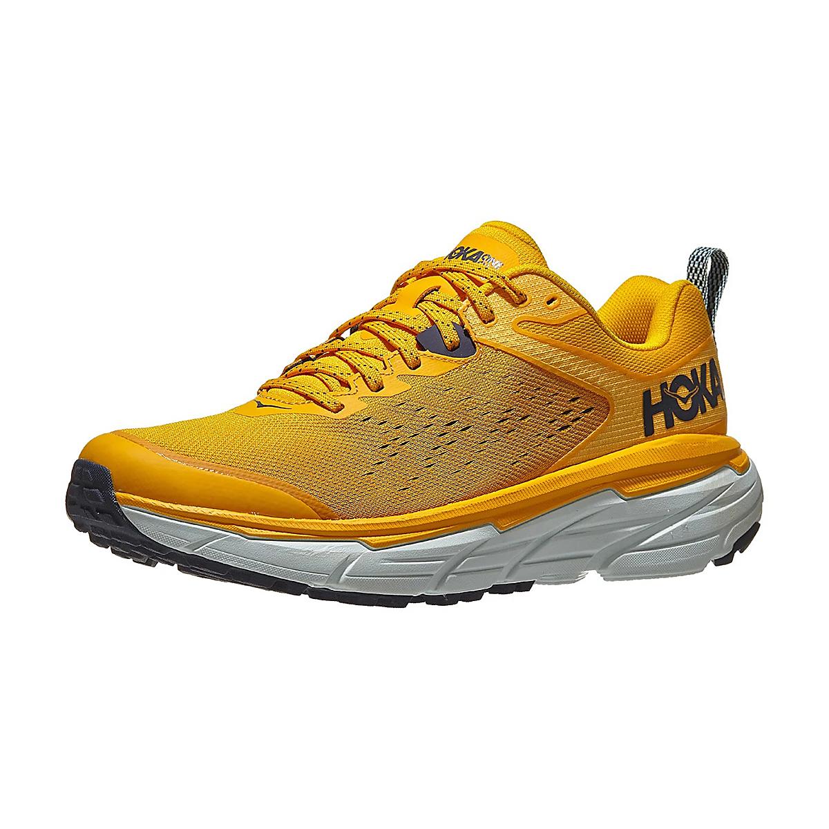 Men's Hoka One One Challenger ATR 6 Running Shoe - Color: Saffron / Morning Mist - Size: 7 - Width: Regular, Saffron / Morning Mist, large, image 3