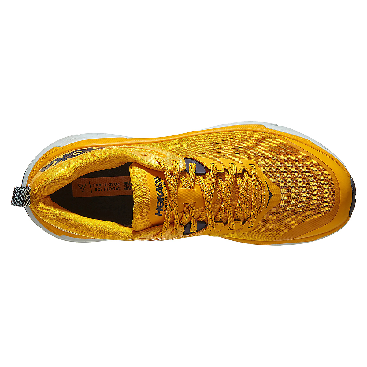 Men's Hoka One One Challenger ATR 6 Running Shoe - Color: Saffron / Morning Mist - Size: 7 - Width: Regular, Saffron / Morning Mist, large, image 4