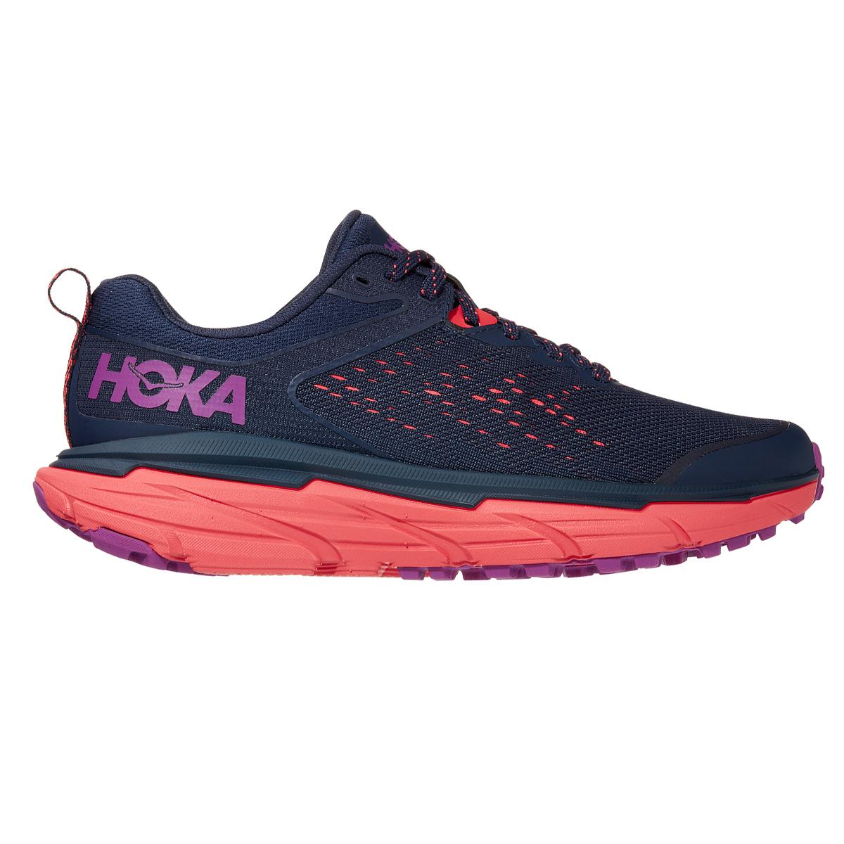 Women's Hoka One One Challenger ATR 6 Running Shoe - Color: Black Iris/Hot Coral - Size: 5 - Width: Regular, Black Iris/Hot Coral, large, image 1