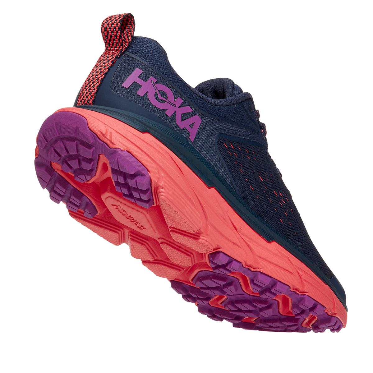 Women's Hoka One One Challenger ATR 6 Running Shoe - Color: Black Iris/Hot Coral - Size: 5 - Width: Regular, Black Iris/Hot Coral, large, image 3