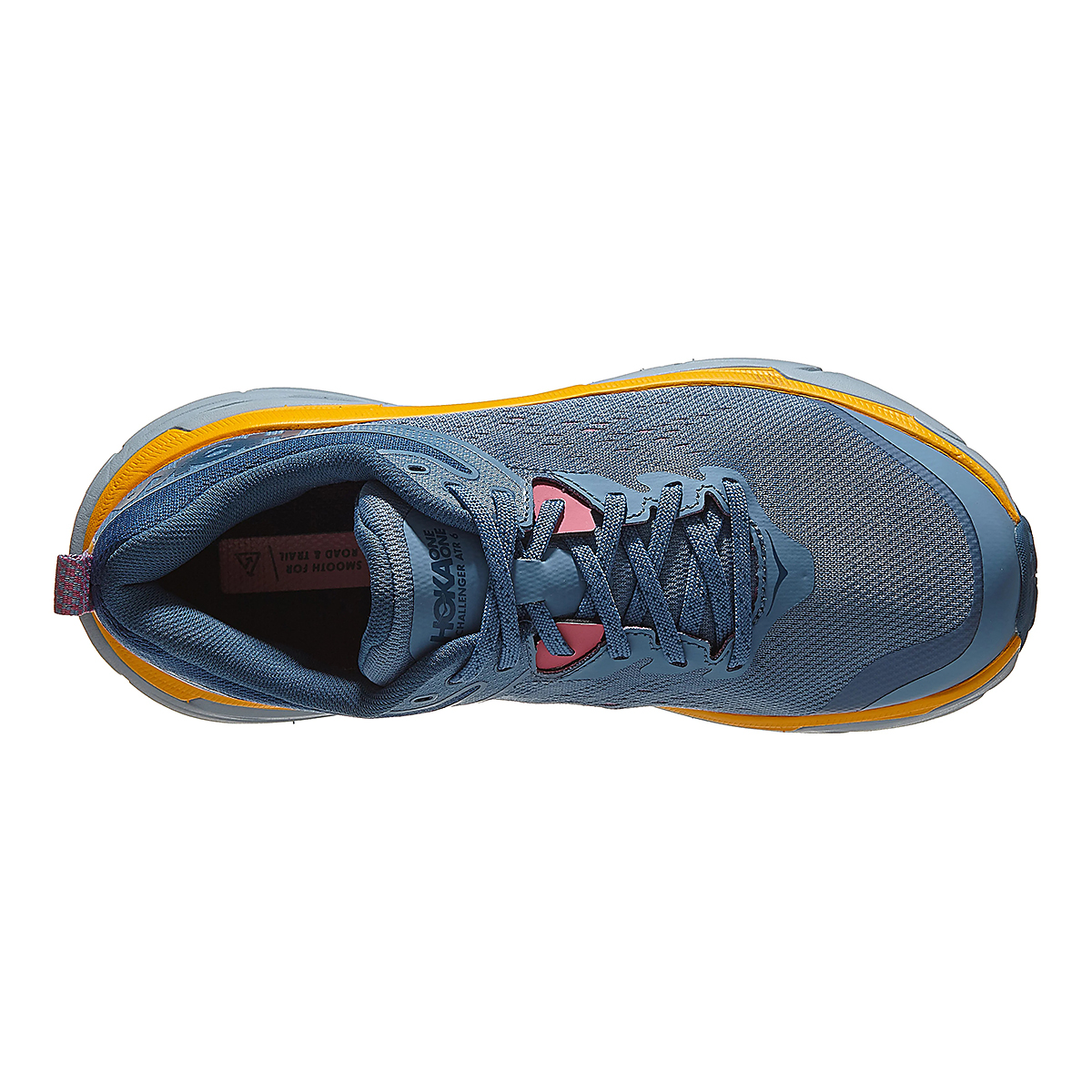 Women's Hoka One One Challenger ATR 6 Running Shoe - Color: Provincial Blue/Saffron - Size: 5 - Width: Wide, Provincial Blue/Saffron, large, image 4