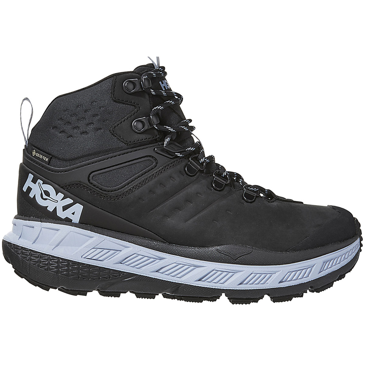 Women's Hoka One One Stinson Mid Gore-Tex Trail Running Shoe - Color: Anthracite/Heather - Size: 5 - Width: Regular, Anthracite/Heather, large, image 1