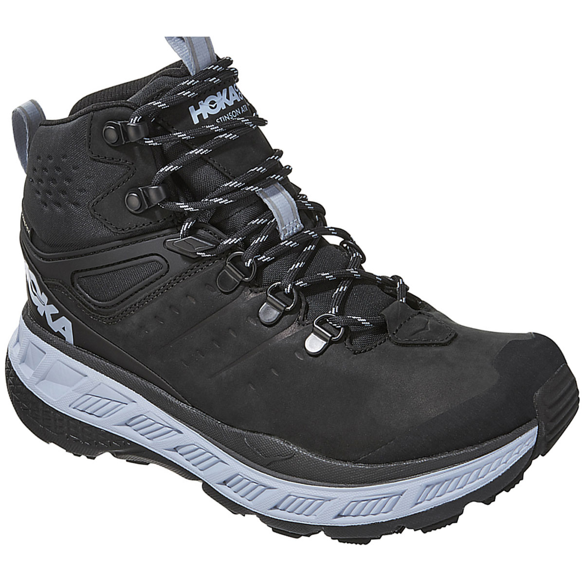 Women's Hoka One One Stinson Mid Gore-Tex Trail Running Shoe - Color: Anthracite/Heather - Size: 5 - Width: Regular, Anthracite/Heather, large, image 2