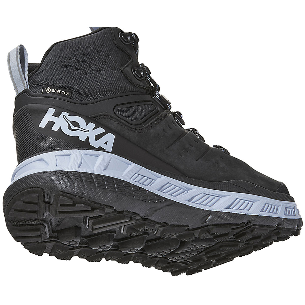 Women's Hoka One One Stinson Mid Gore-Tex Trail Running Shoe - Color: Anthracite/Heather - Size: 5 - Width: Regular, Anthracite/Heather, large, image 3