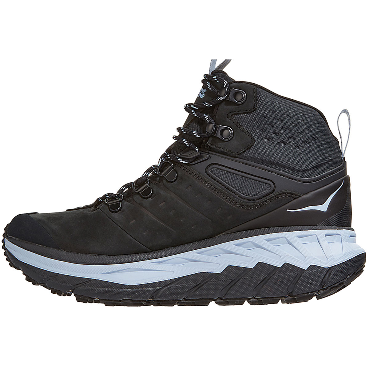 Women's Hoka One One Stinson Mid Gore-Tex Trail Running Shoe - Color: Anthracite/Heather - Size: 5 - Width: Regular, Anthracite/Heather, large, image 4