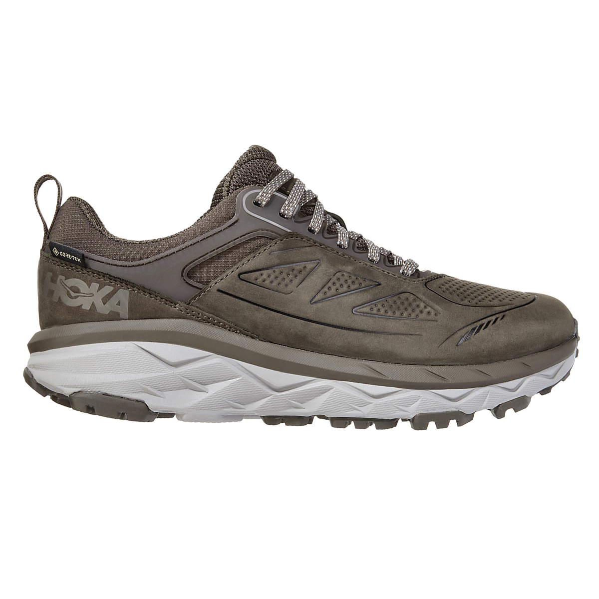 Women's Hoka One One Challenger Low Gore-Tex Trail Running Shoe - Color: Major Brown/Heather - Size: 5 - Width: Regular, Major Brown/Heather, large, image 1