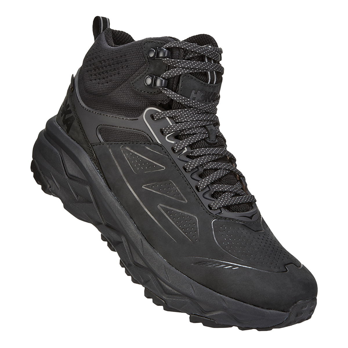 Men's Hoka One One Challenger Mid Gore-Tex Trail Running Shoe - Color: Black (Regular Width) - Size: 11, Black, large, image 2
